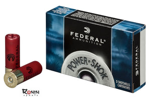 Ammunition Shotgun: Federal Power-Shok Ammunition 12 Gauge 2-3/4″ 1 oz Hollow Point Rifled Slug Box of 5
