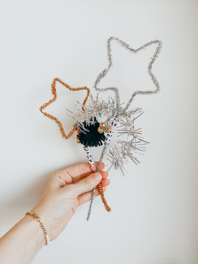 diy pipe cleaner wands | star wand DIY