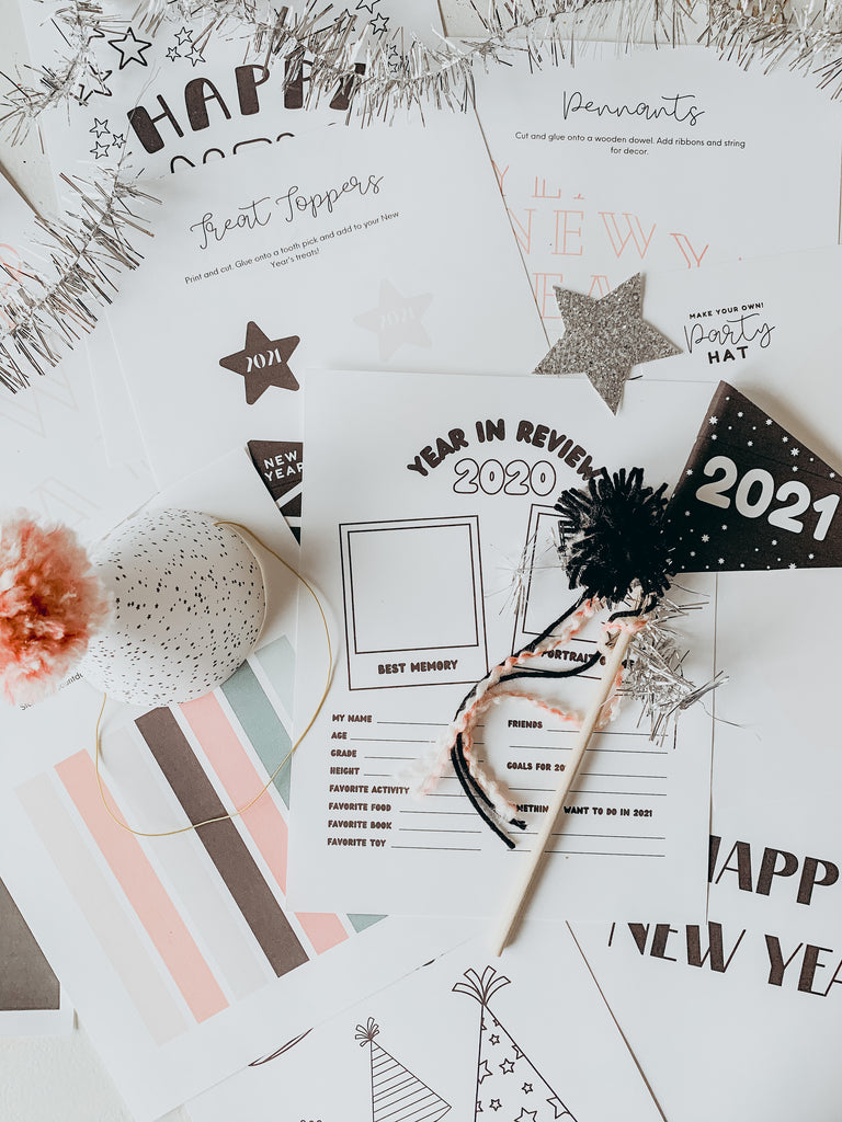 new year's eve activity kit and printables | new year's eve crafts | toddler crafts