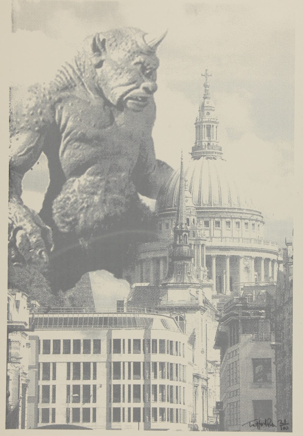 Cyclops at St Paul's - framed