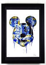 Load image into Gallery viewer, Mickey Mouse - Blue - Framed
