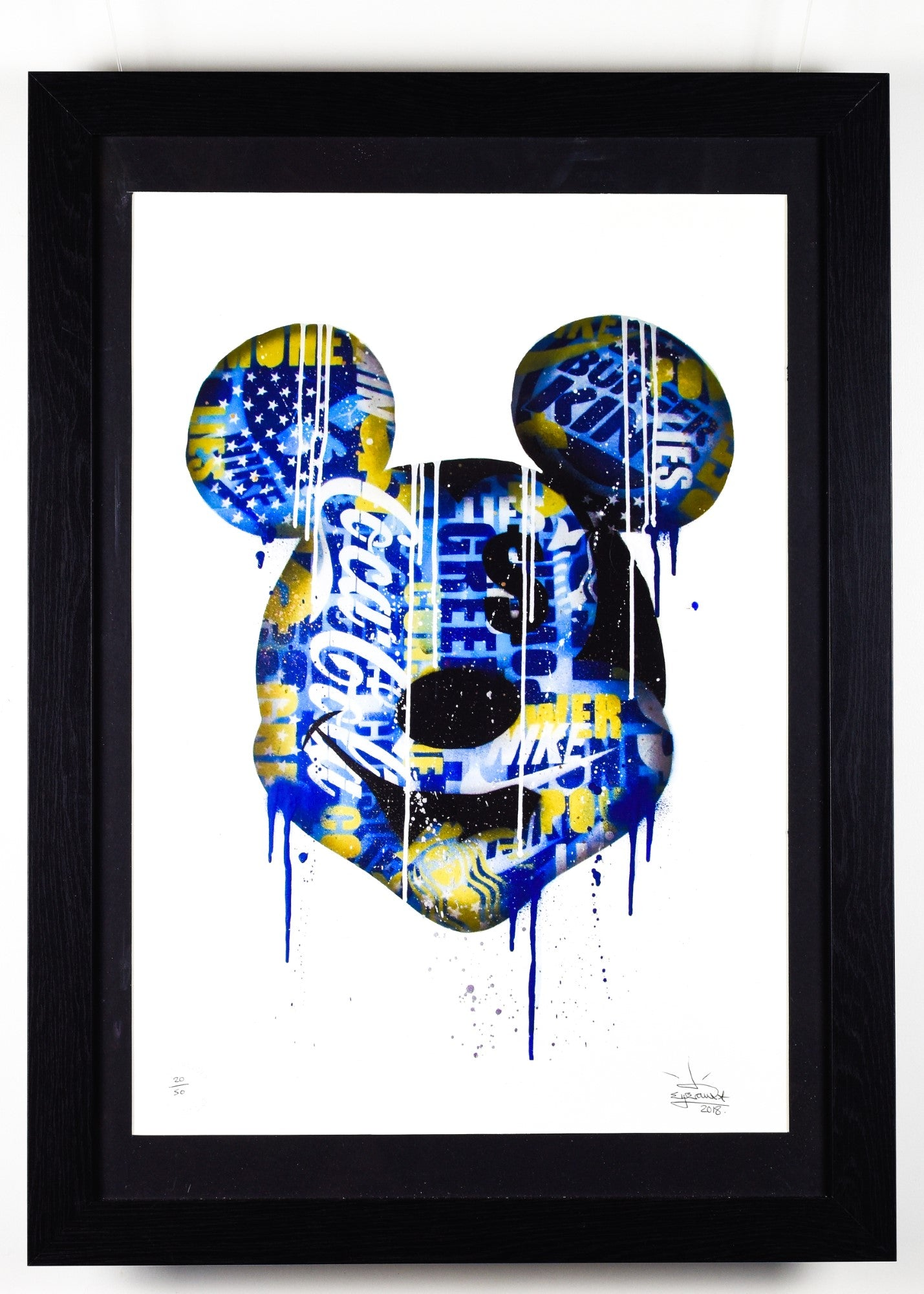 Mickey Mouse - Blue - Framed