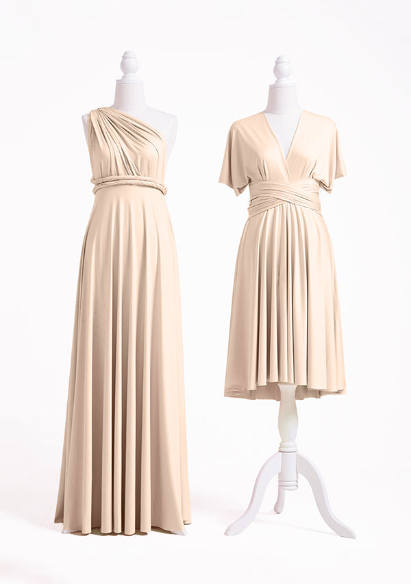 Champagne Bridesmaid Dresses Infinity Dress Convertible