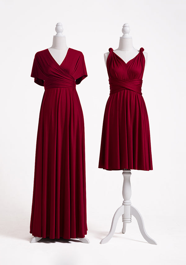 Burgundy Multiway Infinity Dress