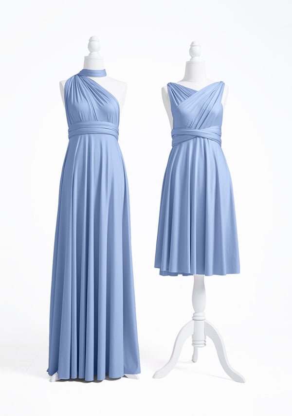 Dusty Blue Multiway Convertible Infinity Dress
