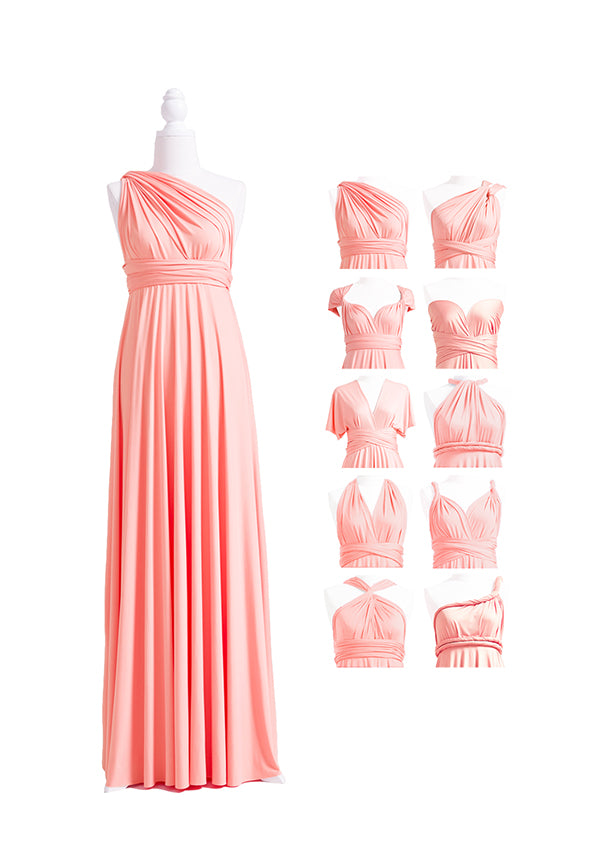 Peach Coral Multiway Infinity Dress