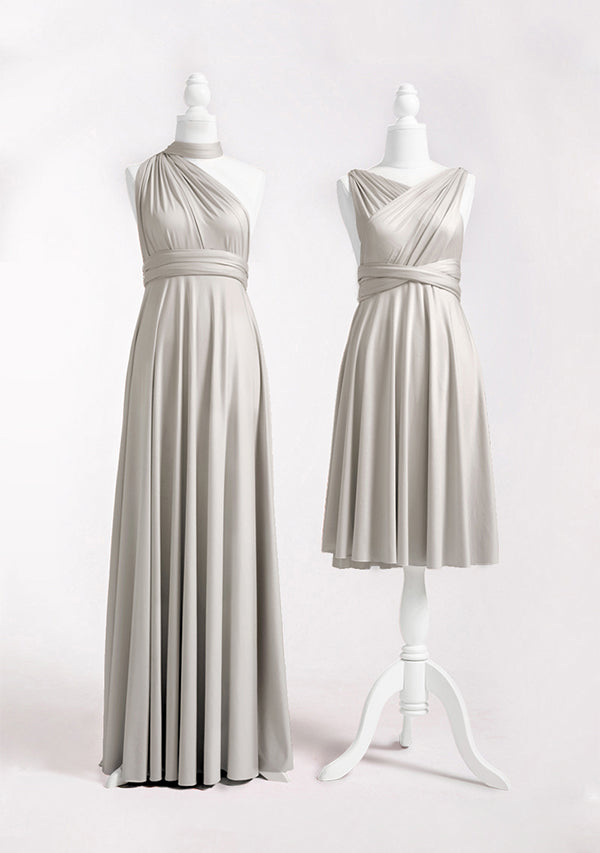Silver Grey Multiway Infinity Dress