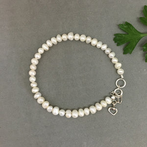 Single Strand Pearl Bracelet (made to order)
