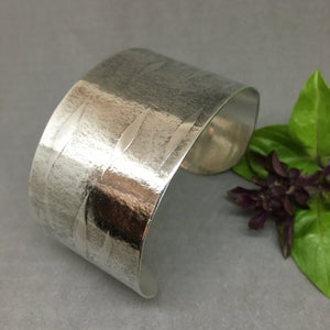 Freeform Wave Sterling Cuff (Wide)