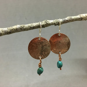 COPPER AND TURQUOISE DROPS