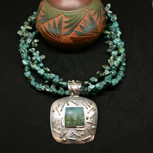 TURQUOISE WITH ZUNI PENDANT