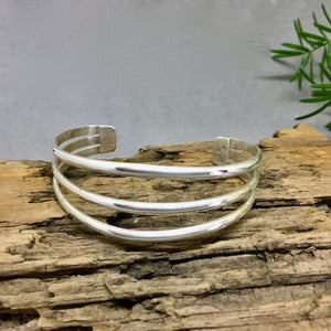 THREE ARC SILVER CUFF