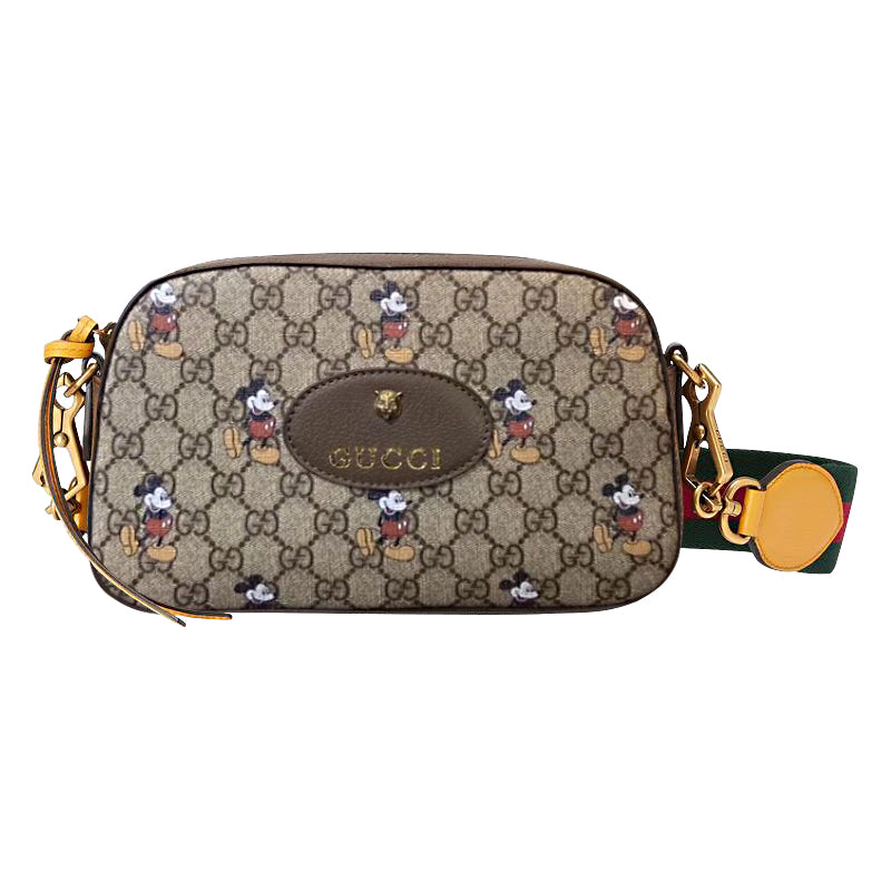 GUCCI X DISNEY Mickey Mouse print GG messenger bag