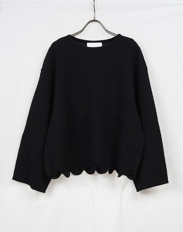 MM21SS-KN029 / Scallop Cut Knitted Pullover / 153165211005