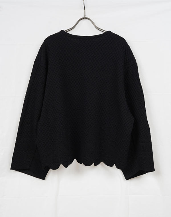 Load image into Gallery viewer, MM21SS-KN029 / Scallop Cut Knitted Pullover / 153165211005