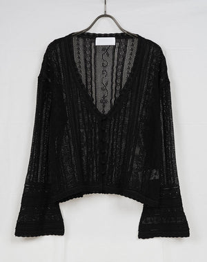 Load image into Gallery viewer, MM21SS-KN030 / Traditional Curtain Lace Knitted Cardigan / 156165211001