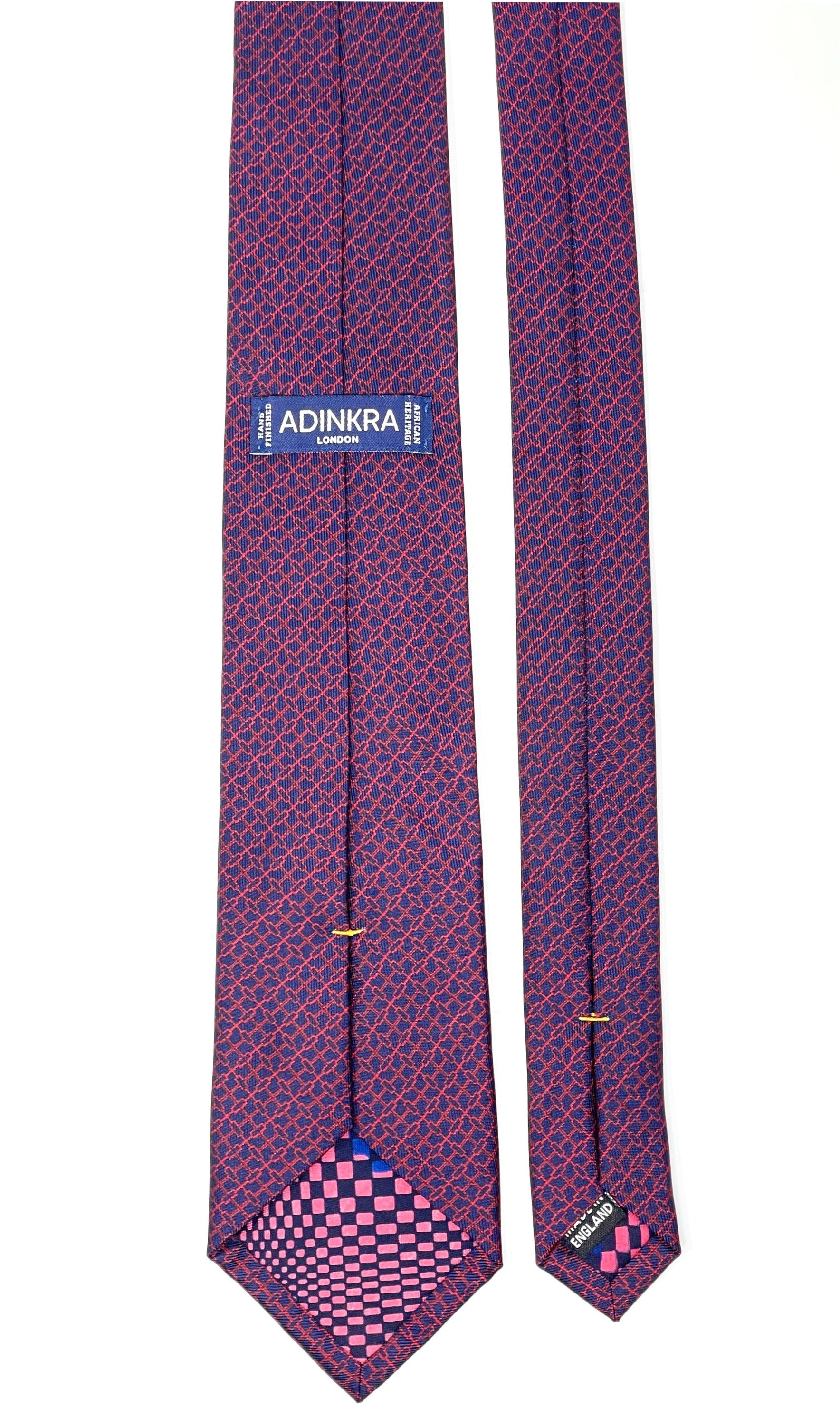 NSAA hand-finished silk tie