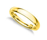 925 Sterling Silver 3 MM Gold Plated Comfort Fit Unisex Wedding Engagement Band Ring