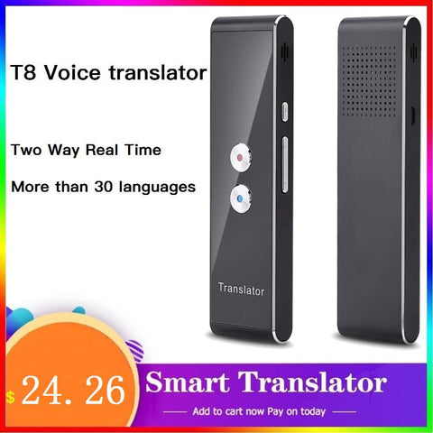 T8 Smart Voice Speech Translator tradutor Two-Way Real Time Translation Multi Language instant translator portable For Learning