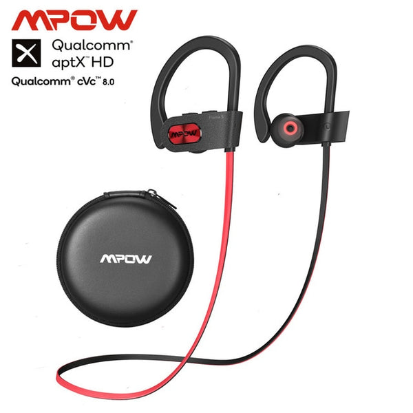 Mpow Flame S Aptx-HD Sound iPX7 Sweatproof Bluetooth 5.0 Wireless Sport Earphones CVC 8.0 Noise Cancelling 12h Playback With Mic