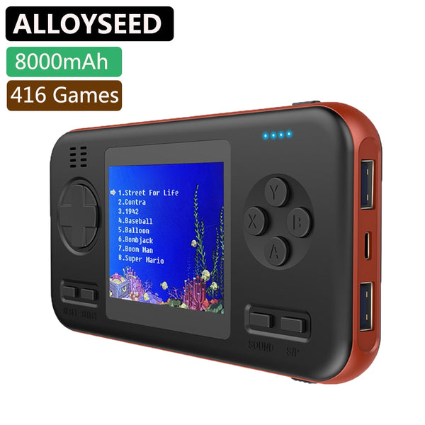 Handheld Retro Game Console with 8000mAh Power Bank Portable Mini Handheld Player Buil-in 416 Classic Games 2.8 Inch Player