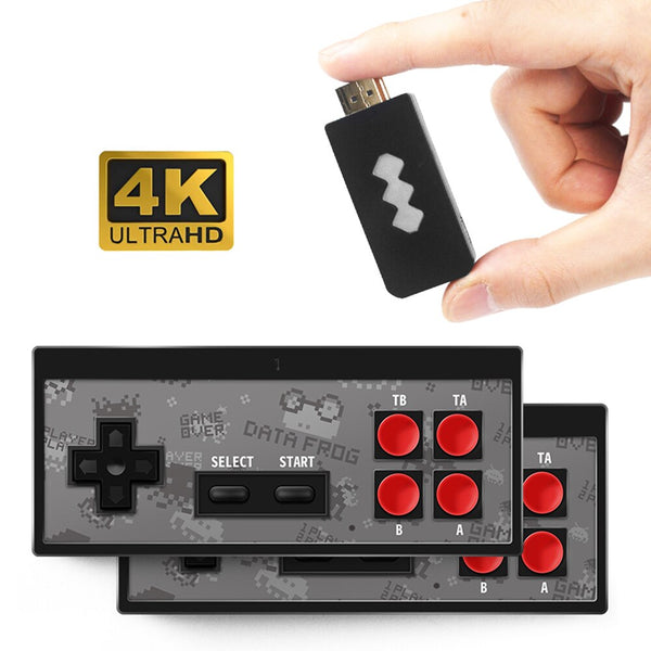 Dual 2.4G USB Wireless Handheld TV Video Game Console Build In 600 Classic Game 8 Bit Mini Video Console Support AV/HDMI Output