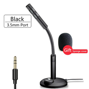 3.5mm/USB Wired Condenser Microphone for Computer PC Desktop Laptop Notebook Sound Recording Gaming Podcasting Microphones