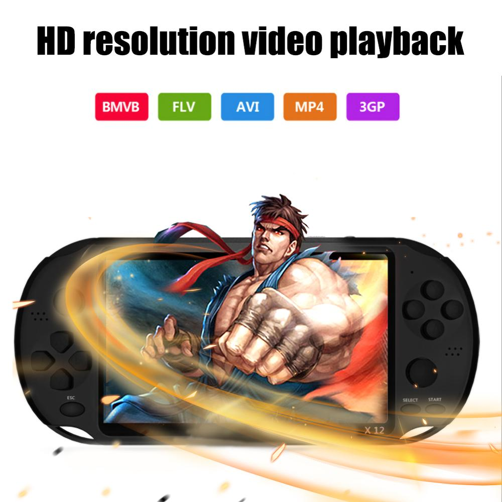X12 1000 Games Player Large Screen Handheld Game Player support MP3 Camera Video TV output Text reading Multimedia Game Consol