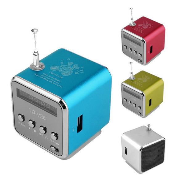 Portable Mini Speaker SD TF Card Micro USB Stereo Soundbar Super Bass FM Radio IB Mp3 Mp4 Music Player Speakers Drop Shipping