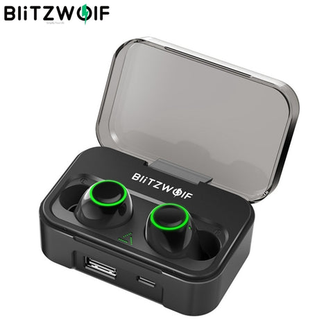 Blitzwolf BW-FYE3 True Wireless bluetooth 5.0 Earphone 6mm HiFi Stereo Bilateral Calls with 2600mAh Power Bank IPX6 Waterproof