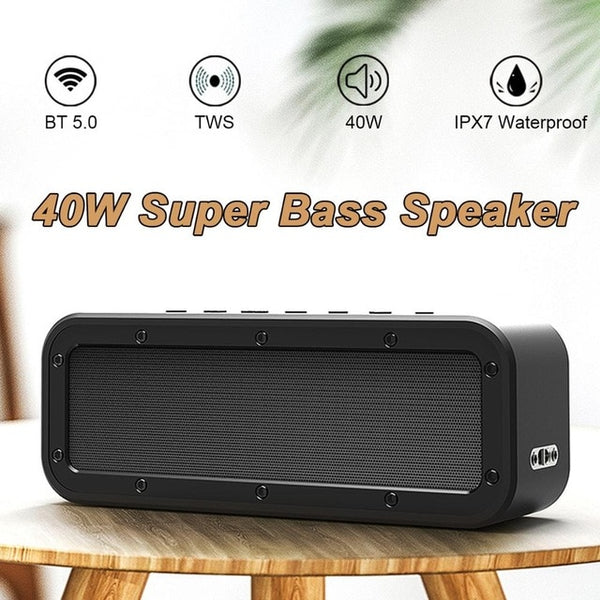 20/30/40/50W bluetooth Speaker Column Portable Speaker IPX7 Waterproof Subwoofer with 360 Stereo Sound Outdoor Speakers Boombox