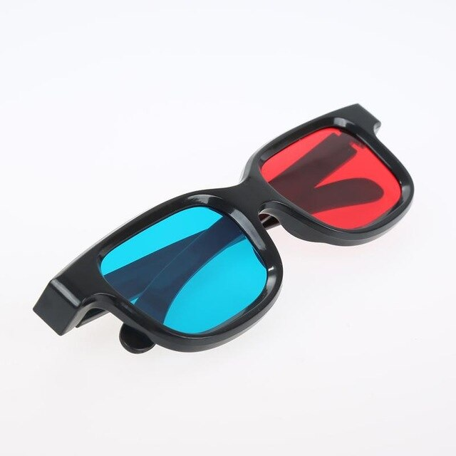 High Quality Red Blue 3D Glasses Black Frame For Dimensional Anaglyph TV Movie DVD Game VR Glasses For 3D Movies Play 3D Games
