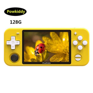 Powkiddy RGB10 Retro Games Console IPS LCD Screen Handheld Game Player Built in 2000 Games Open Source System Quad-Core Console