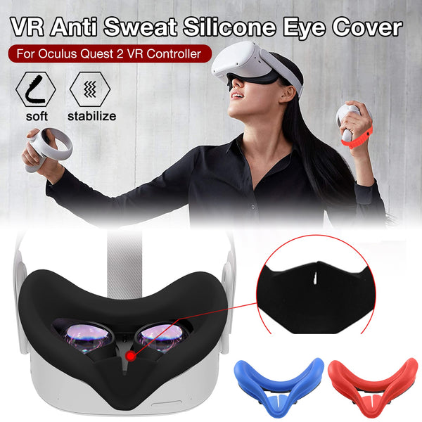 Soft Silicone Eye Cover Anti Sweat Eye Pad For Oculus Quest 2 Glasses Washable And Nonslip VR Headset Accessory
