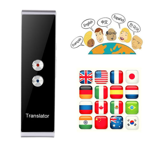 T8 Language Translator Device Smart Two Way Voice Translator Bluetooth Support 44 Languages For Travelling Abroad Learning