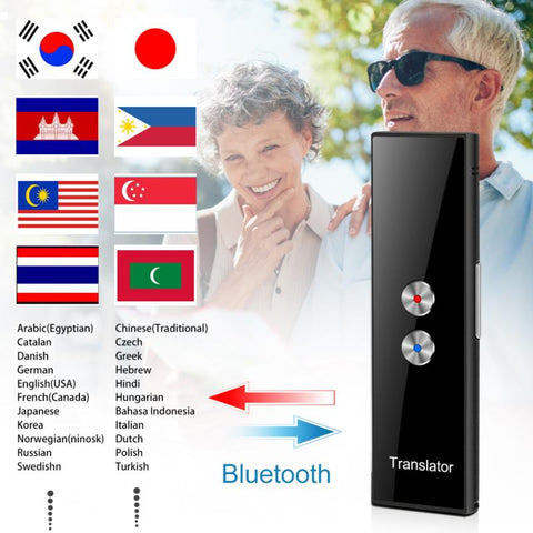 T8 PRO Wireless Smart Translator 68 Languages Two-Way Real Time Instant Voice Translator APP Bluetooth Multi-Language Mini Hot