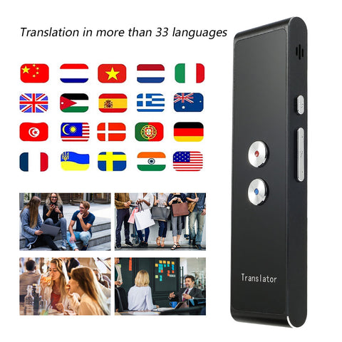 T8 Portable Mini Wireless Smart Translator 40+ Languages Two-Way Real Time Instant Voice Translator APP Bluetooth Multi-Languag