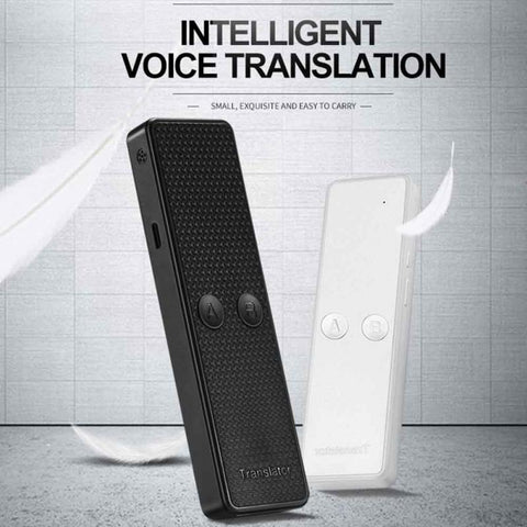 Rechargeable Portable Smart Voice Speech Translator Two-Way Real Time 68 Multi-Language For Learning Travelling Business Meet