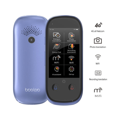 boeleo W1 Pro Translator 3.0 Inch Touchscreen 4G/WiFi/Hotspot/Offline Support 117 Languages with Recording/Photo Translation