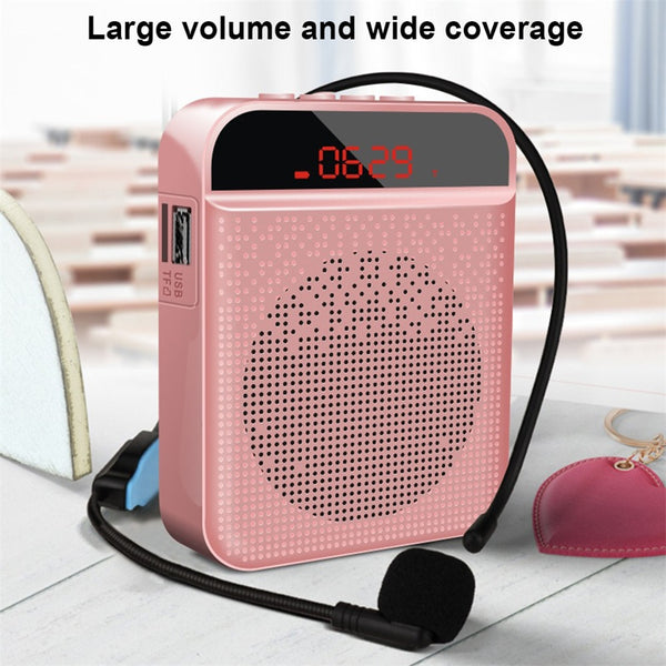 Portable Voice Amplifier Megaphone Mini Audio Speaker With Microphone Rechargeable Ultralight Loudspeaker For Teachers MP3 FM