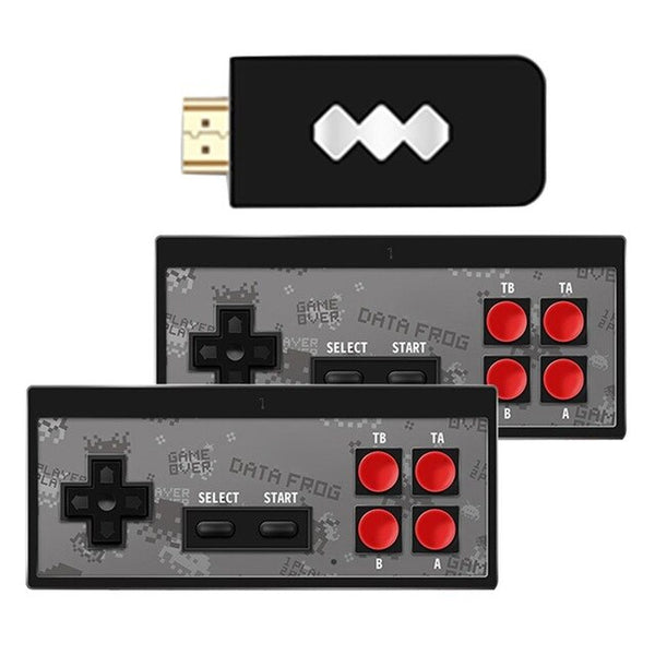 Y2-HD 4K HDMI Video Game Console Built-in 568 Retro Games with Two Mini Wireless Controller HDMI Output Dual Players