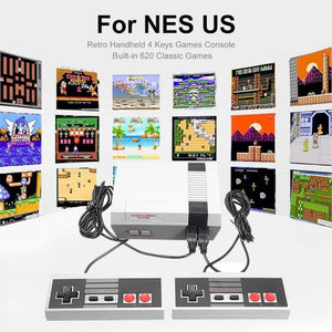 2020 Portable Retro Handheld 4 Keys Games Retro video game console Classic game console Built-in 620 Classic Games for NES US