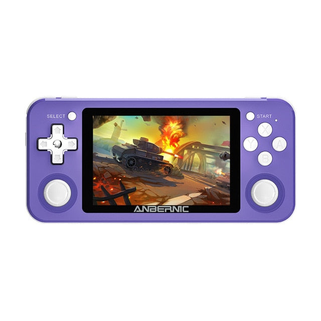Powkiddy RG351P 2500 Games Player Vibration Handheld Retro PSP Game Console 3.5-inch IPS HD Screen 3D Rocker Retro Game