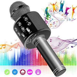 Bluetooth KTV Microphone Wireless Microphone Professiona Speaker Handheld Microfone Player Singing Recorder Mic