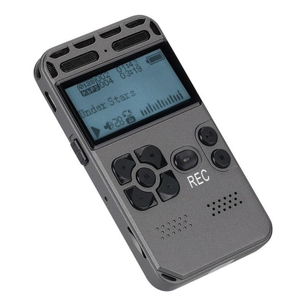 V35 One Key Recording Metal 2129 Professional Noise Reduction Digital Voice Recorder Built-in Loudspeaker Voice Recorder