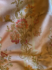 Shimmering copper pink silk brocade, 19th century French | Pavilion Parade