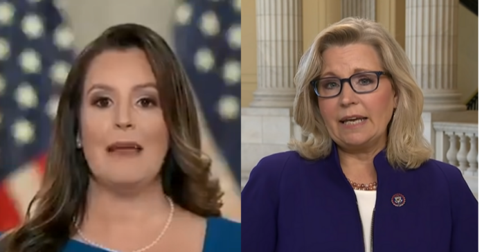 Elise Stefanik Overrules Liz Cheney, Says Trump Voters Are 'Critical' To GOP Winning In 2022