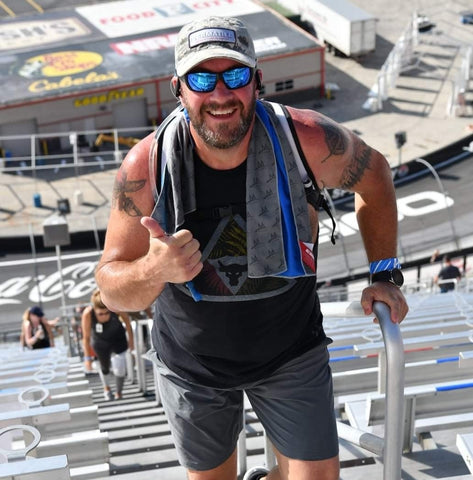 Climbing stairs during an endurance event