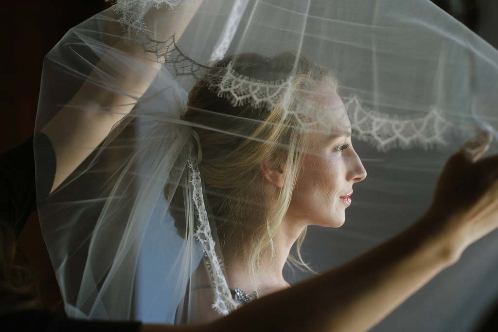 French Lace Wedding Veil Ballet-Inspired Wedding