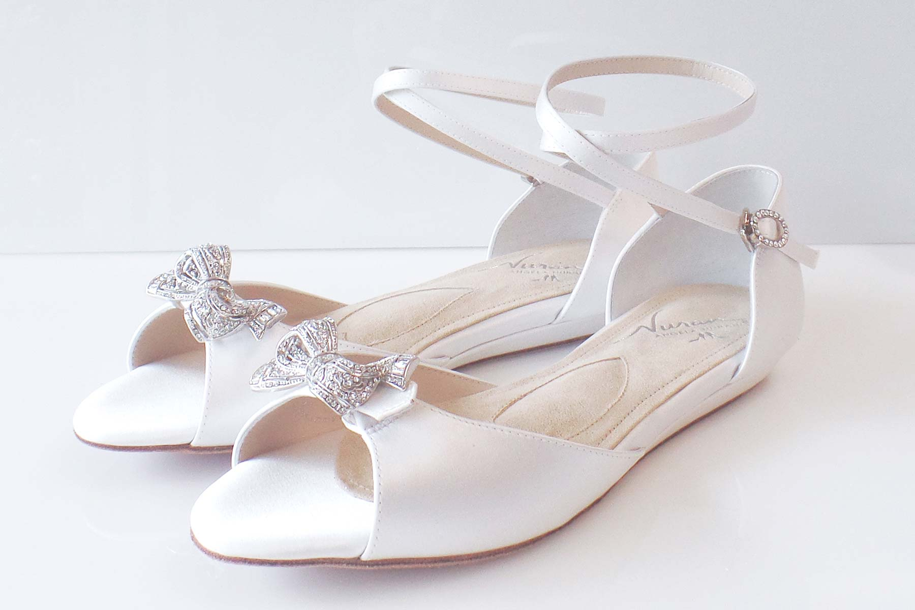ballet inspired, wedding flats, shoes